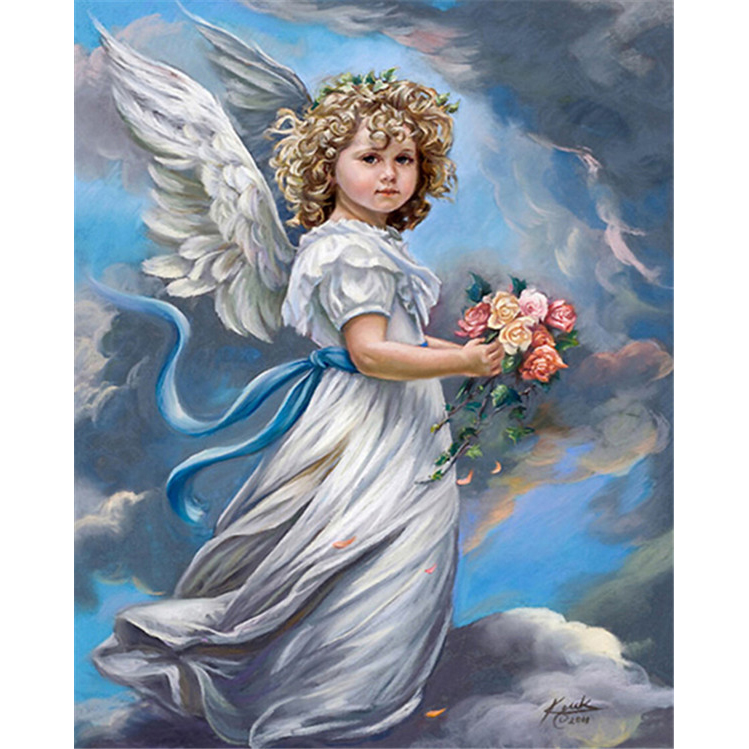 2016 new needlework Home Decor Characters Angel little girl Diamond Painting 5D Cross Stitch Rhinestone Diamond Embroidery k241