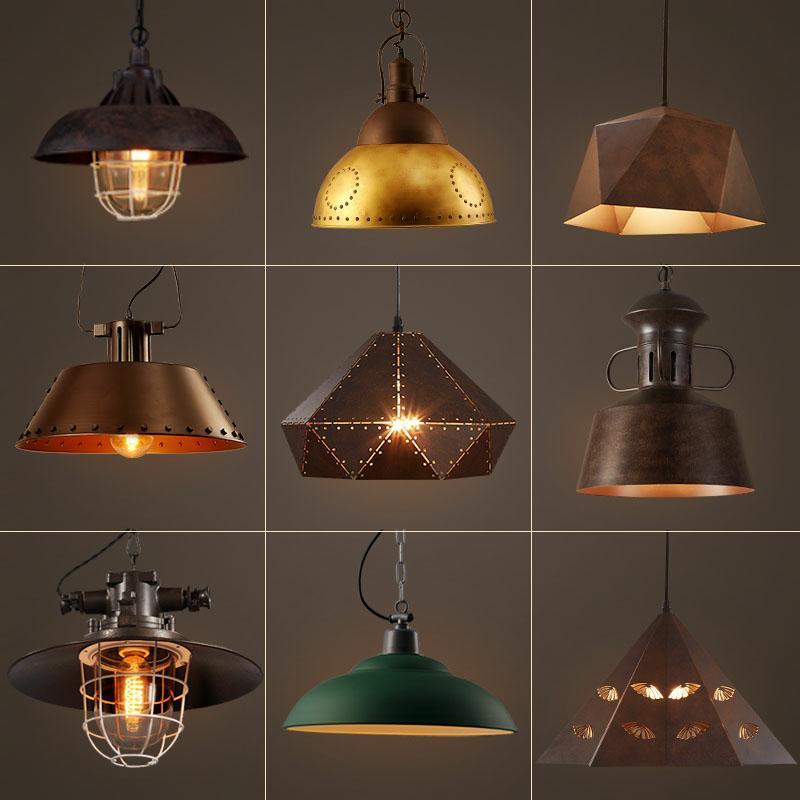 Luzes do Pendente do vintage Loft Lâmpada Avize Hanglamp Nordic Restaurante Luminária Suspensão Luz Da Cozinha Casa de Iluminação Industrial