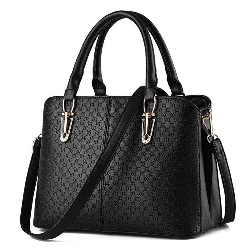 Geometric Plaid Casual Women Large font b Handbag b font Occident Style Gergours Shoulder Bag Ladies