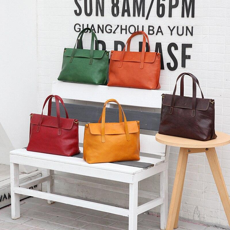 Yifangzhe 여자 진짜 가죽 어깨 가방, 패션 여자 핸드백/메신저 가방 대용량 roomy 우산-에서탑 핸드백부터 수화물 & 가방 의  그룹 1
