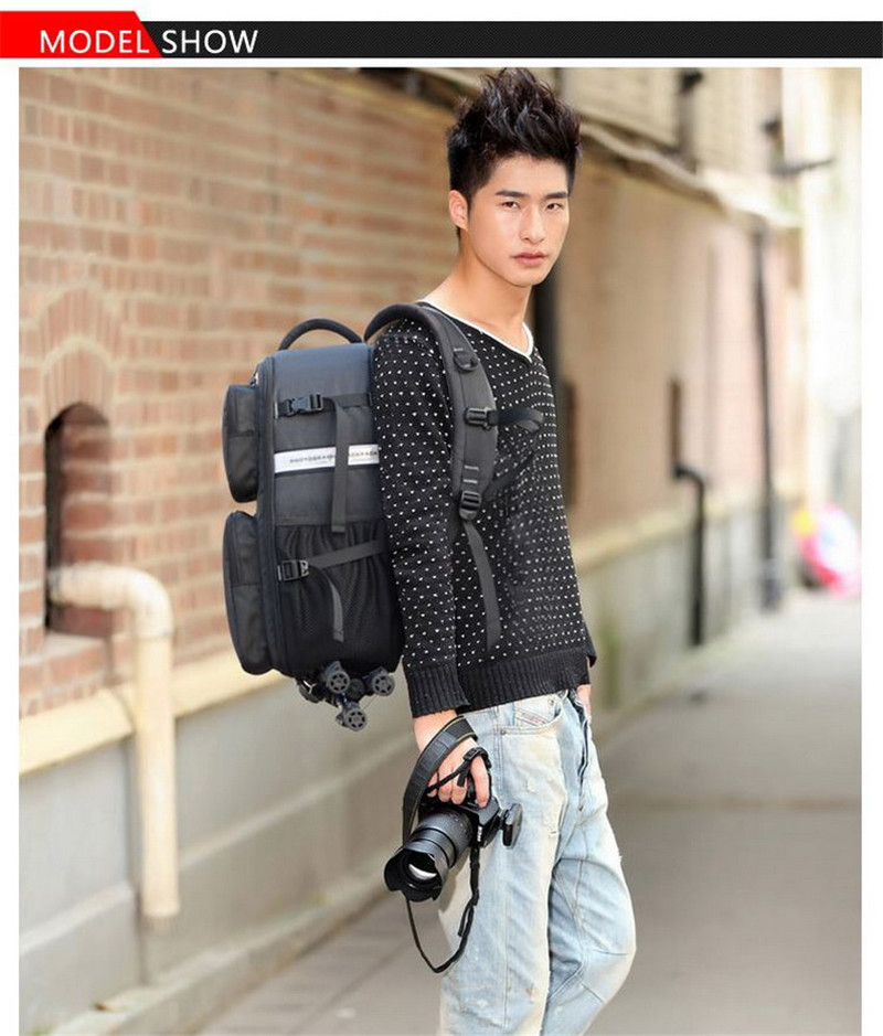 Hot Sale Professional DSLR Camera Backpacks Large Capacity Photography Accessories Lens Video Case Bag For Nikon Sony Canon EOS