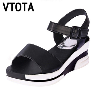 2018 Summer shoes woman Platform Sandals Women Soft Leather Casual Open Toe Gladiator wedges Women Shoes zapatos mujer X6