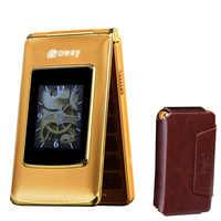 """Etui z klapką 2.8 """"podwójny ekran dotykowy telefony szybkiego wybierania SOS wywołanie zapis starszy telefon komórkowy rosyjska klawiatura przycisk darmowa przypadku prezent"""