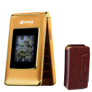 """Image 1 - Flip 2.8"""" touch GSM cell phones MP3 speed dial SOS calling record celular senior cheap mobile phone telefon clamshell phone"""