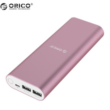 ORICO 20000mah Li-polymer Battery Power Bank Dual USB Port 5V2.1A Output Power Indicator Power Bank For Phone