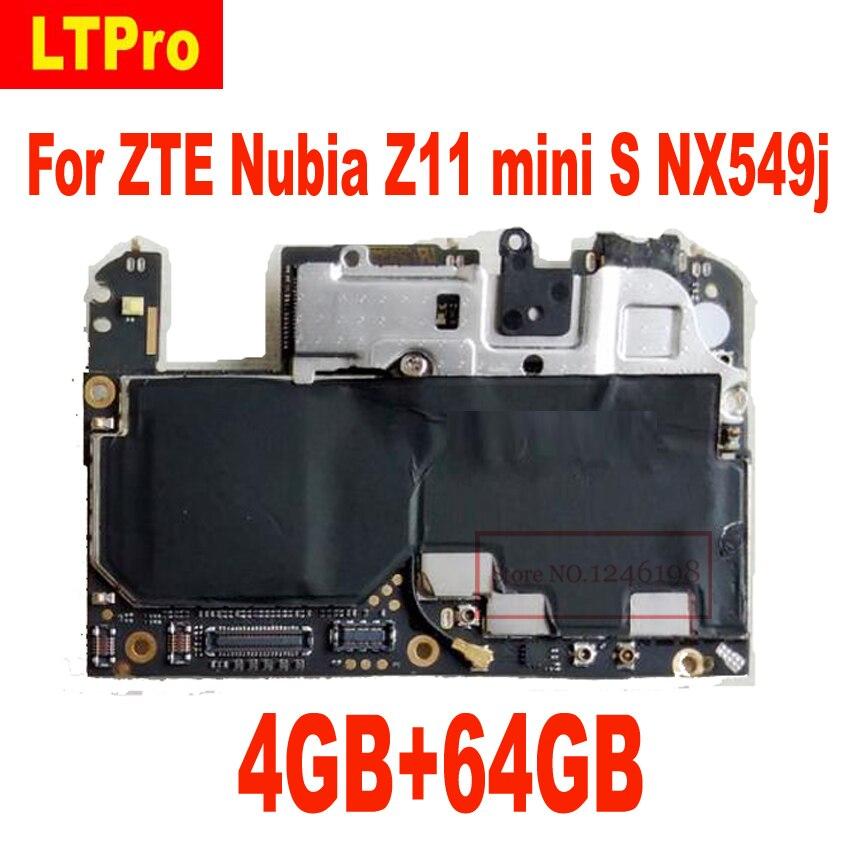 LTPro Motherboard for ZTE Nuvia NX549J Z11 mini s Mainboard 4GB RAM 64GB ROM Logic Board Circuits AntennaLTPro Motherboard for ZTE Nuvia NX549J Z11 mini s Mainboard 4GB RAM 64GB ROM Logic Board Circuits Antenna