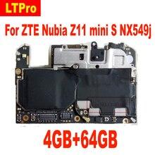 Материнская плата LTPro для ZTE Nuvia NX549J Z11 mini s, материнская плата 4 Гб ОЗУ 64 Гб ПЗУ, логическая плата, схемы, антенна