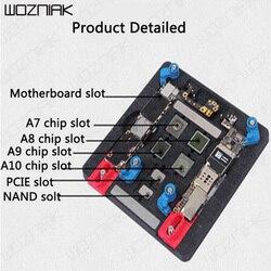 Wozniak MJ A21 uniwersalny wysokiej temperatury płyta główna IC Chip PCB uchwyt oprawy zawód Repair Tool dla iphone 6 6S Xiaomi