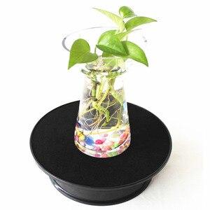 Image 1 - Top De Veludo preto elétrica Motorizada Rotativa Exibição Turntable Produto Ideal para Jóias Hobby Collectible