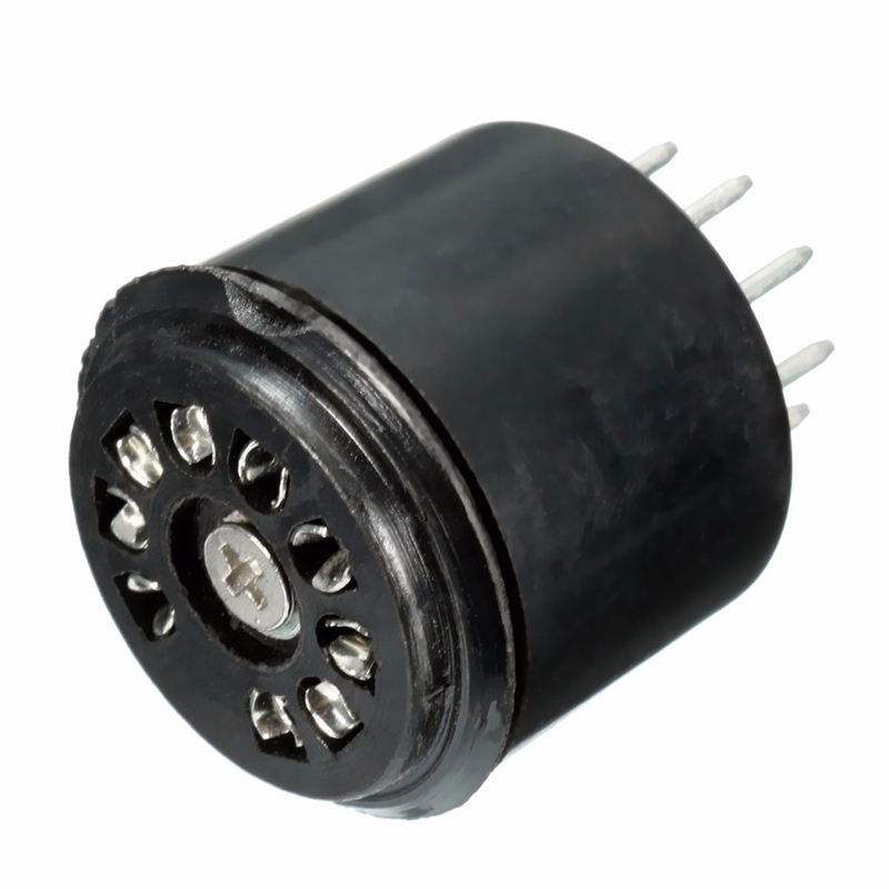 9 Pin 1500V Bakelite Vacuum Tube Socket Saver Base For 12AX7 12AU7 ECC82 ECC83 Amps Black Electrical Plugs Sockets