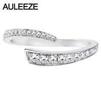 AULEEZE простота офисные женские туфли кольца 0,23 cttw с натуральным бриллиантом обручальное Solid 18 к 750 белое золото натуральный самоцвет ювелирны