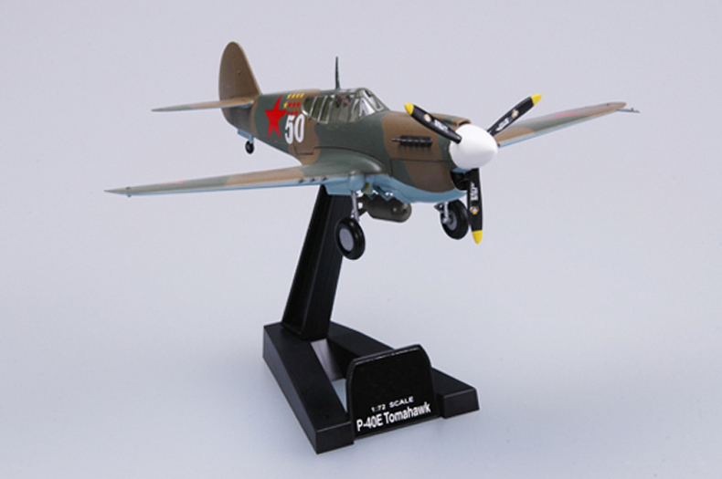 <font><b>Trumpet</b></font> <font><b>1</b></font><font><b>:</b></font><font><b>72</b></font> World War II Soviet air force P-40E Tomahawk fighter 37275 finished product model image