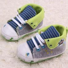 0-12M Casual Baby Boys Girls Cute Cartoon Print Laces Soft Sole Sneakers Shoes