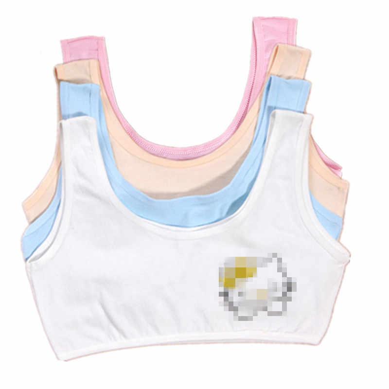 Girls Underwear Teenage Training Bra For Girl Cat Print Sports Bra Top For Teens 6-12 Years Adolescente Lingerie