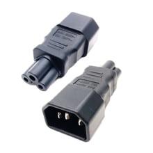 Adaptador de corriente Universal IEC 320 C14 a C5, convertidor de adaptador C5 a C14, de 3 pines enchufe de CA, conector IEC320 C14, 1 unidad