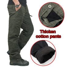 Брюки-карго мешковатые хлопчатобумажные военный классические толстые штаны камуфляж слой тактический теплые