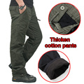 Winter Double Layer Men's Classic Cargo Pants Warm Thick Baggy Pants Cotton Trousers For Men Male Military Camouflage Tactical