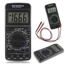Multimetro digitale DT9205A cavi di prova LCD AC DC Ohm Meter strumento automatico con sonde Tester di resistenza amperometro