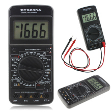 DT9205A Electric Multimeter Digital LCD Test Leads AC DC Ohm Meter Automatic Tool With Test Pen Battery Power Supply