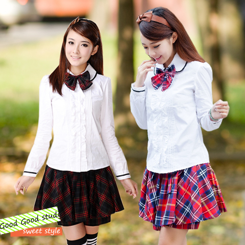 066841bb5 The winter wind class service uniforms Japanese schoolgirl uniform shirt  dress costumes of South Korean Students