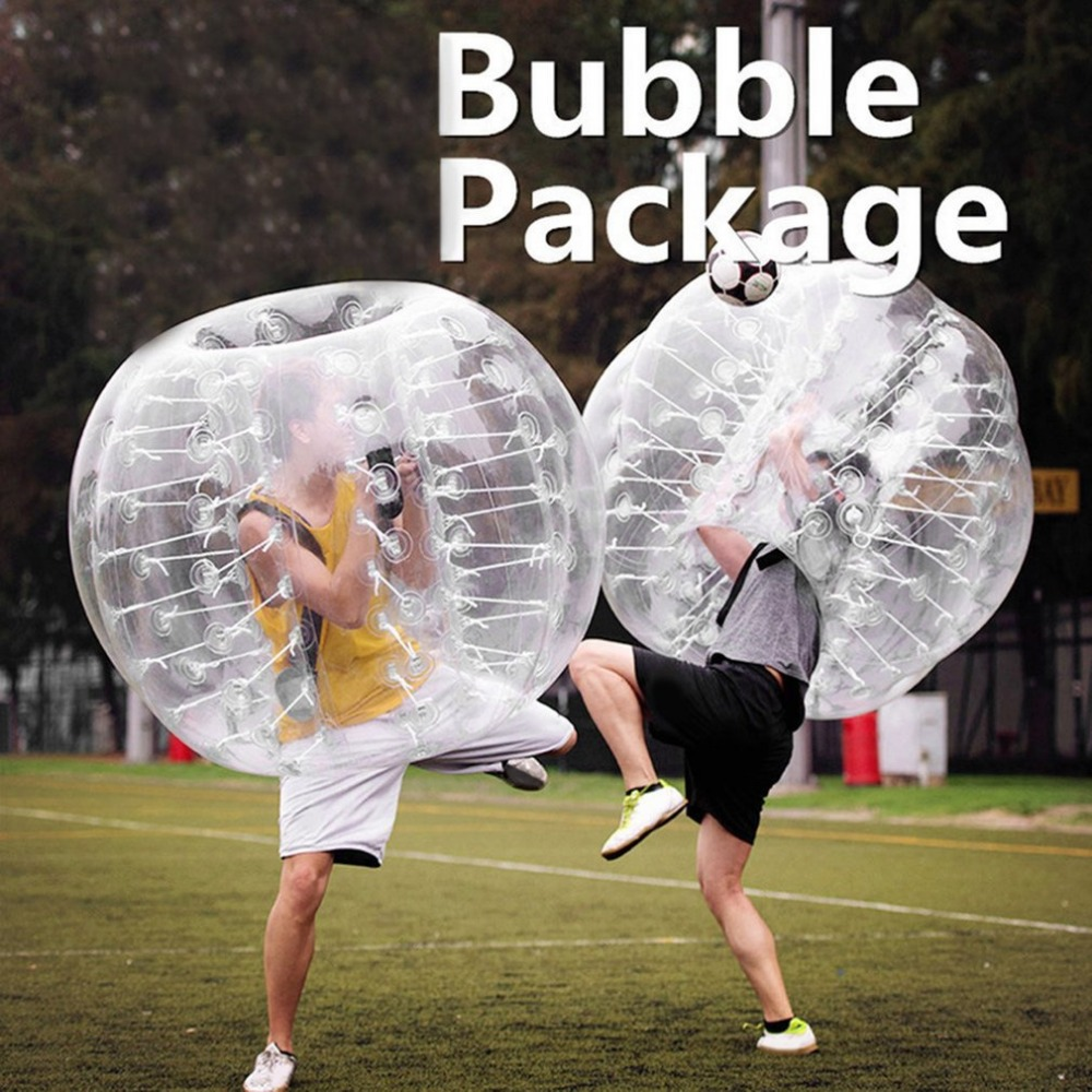 0.8mm Thick PVC Inflatable Bubble Buffer Balls Human Knocker Bumper Zorb Ball For Adult Outdoor Activity Running Body Suit NEW inflatable zorb ball race track pvc go kart racing track for sporting party