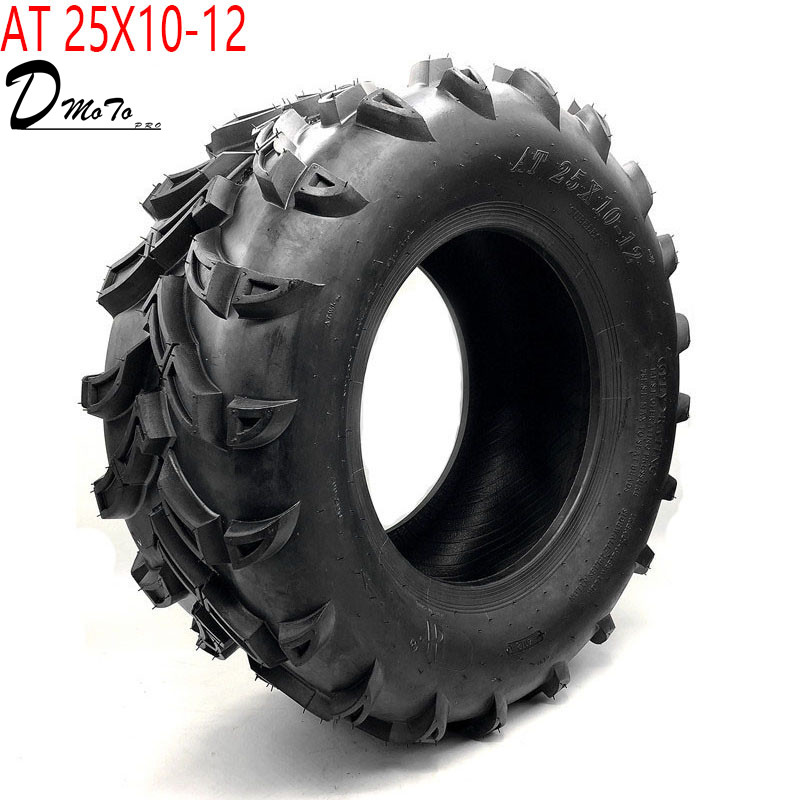 12 Inch ATV Tyre AT 25X10-12 Tire Four Wheel Vehcile Off Road Motorcycle For Chinese 150cc 200cc 250cc Big ATV Wheels Rims