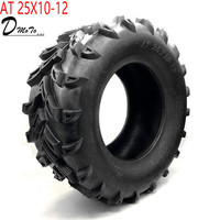 12 inch ATV Tyre AT 25X10 12 Tire four wheel vehcile off road motorcycle For Chinese 150cc 200cc 250cc Big ATV Wheels Rims