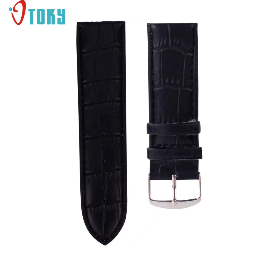 OTOKY Hot Unique   14mm High Quality Soft Sweatband Leather Strap Steel Buckle Wrist Watch Band Drop ship P35 high quality soft sweatband leather strap steel buckle wrist watch band 3522 brand new luxury free shipping