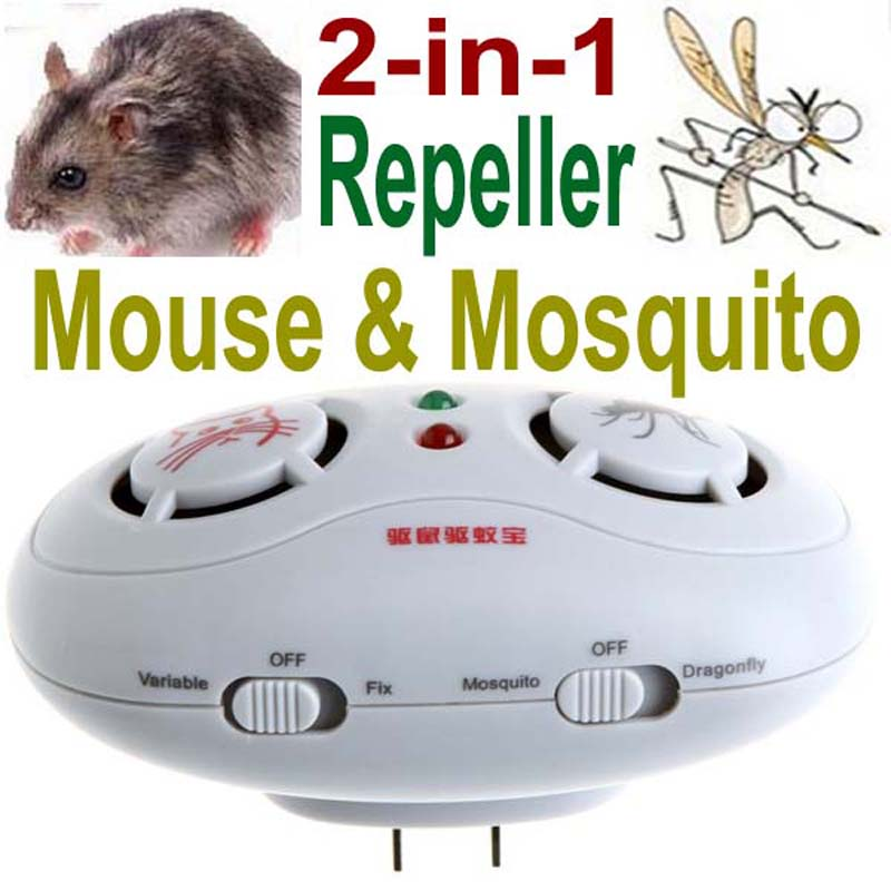 electric ultrasonic repeller Indoor Double Speaker 2 in 1 Electronic Ultrasonic Mouse Mosquito mole pest rodent