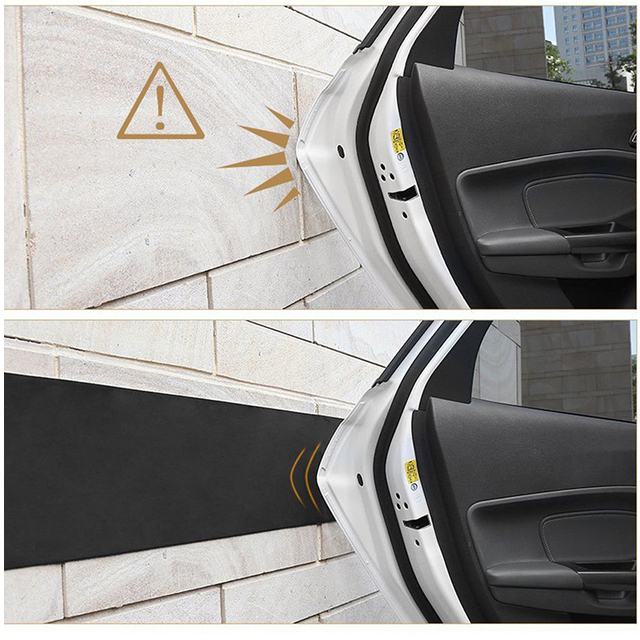 200 X 20cm Car Door Protector Garage Rubber Car Styling Wall Guard Bumper Safety Parking Lip Bumper