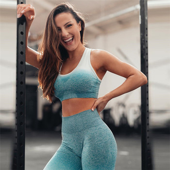 Women's Ombre Seamless Leggings & Sports Bra 1