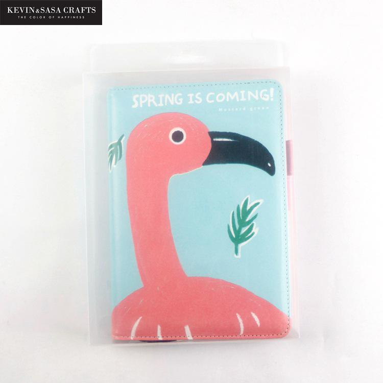 Flamingo Weekly Planner A6 Size Notebook Diary Day Planner Diary 2018 Kawaii Journal Stationery Office Bts School Supplies new arrival fur journal traveler notebook diary poacket planner mini refill pages folder diary business office supplies gifts