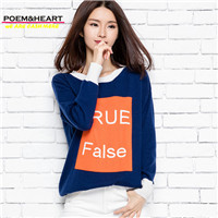 POEM HEART 2017 Casual Letter Jacquard Flowers Cardigan Whorl O Neck And White Cuffs Women Cashmere