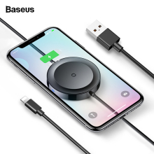Baseus USB Cable For iPhone + Wireless Charger Pad For iPhon