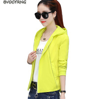 2018 New Lady Spring Autumn Jacket Women Student Clothes Fashion Loose Coat Casual Tops Hooded Big