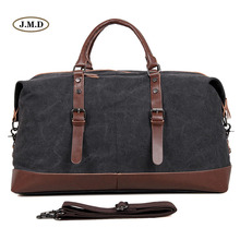 J.M.D New Arrival Fashion Mens Black and Coffee Durable Canvas Handbag Portable Multifunctional Travel Bag Weekend 9038
