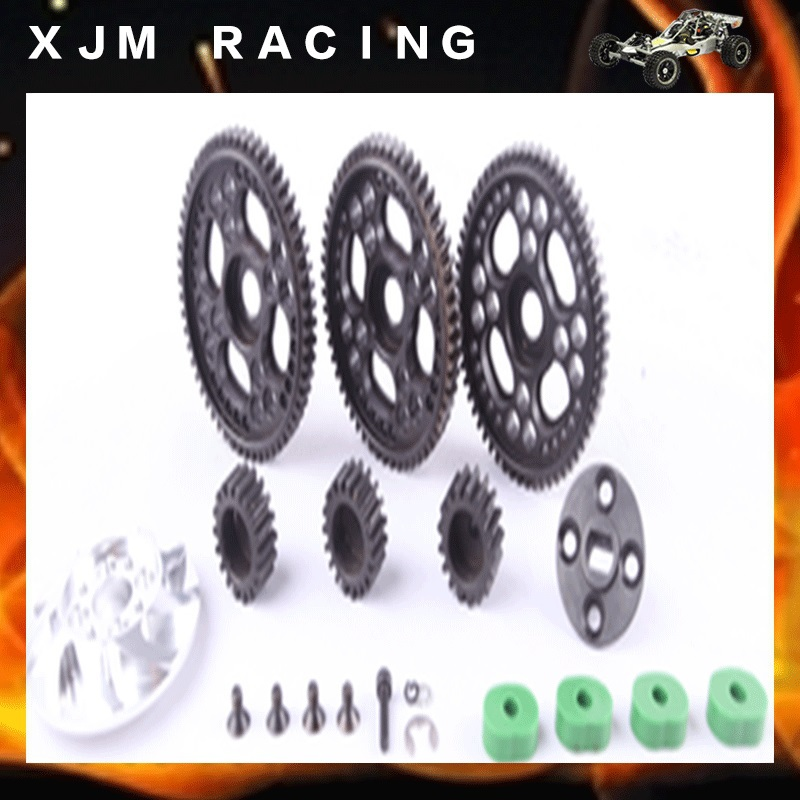 1/5 rc car High speed revolution Gear ratio 17T 18T 19T 57T 56T 55T for 1/5 scale hpi km baja 5b/5t/5sc toy parts 1 5 rc car carbon front upper plate for 1 5 scale hpi rovan km baja 5b 5t 5sc
