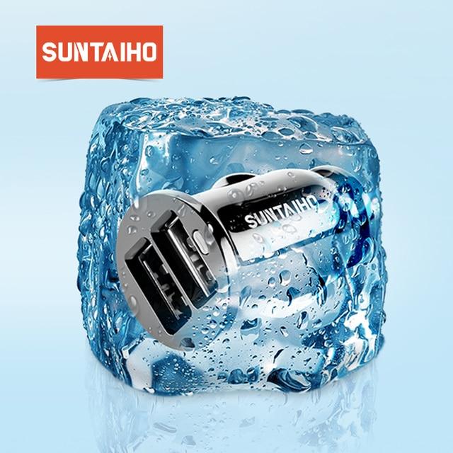 Suntaiho Double USB chargeur de voiture universel De Voiture-Chargeur 3.1A Mini téléphone portable De Voiture-adaptateur de chargeur pour l'iphone 7 Chargeur De Téléphone De Voiture