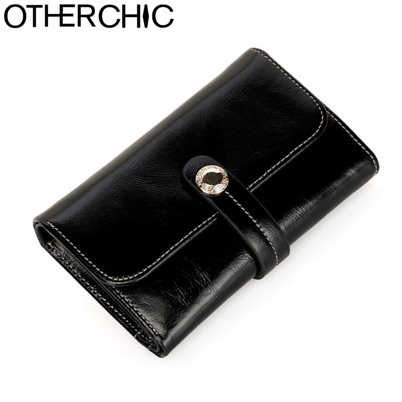 OTHERCHIC Small Purse Leather Wallet  Genuine Cow Leather Short Wallet Women Wallets Coin Purse Card Holder Purses 17Y03-38 famous brand cowhide leather knitting wallet women short wallets women coin card holder purse genuine leather purse