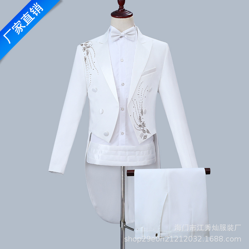 2020 Men Leisure Tuxedo Suits Large Chorus Suits Hosted Magic Command Stage Dress
