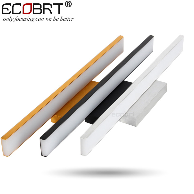 ECOBRT Modern Aluminum LED wall Light lamps in Bathroom Wall Mounted over Mirror Picture lights Silver Gold Black deco wall lamp luxurious crystal wall lamp metal plating modern wall light hotel ideas wall lights indoor modern wall lamps art deco lighting