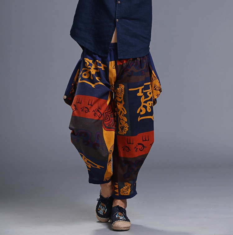 KUANGNAN, хлопковые льняные брюки, мужские брюки, хип-хоп, штаны для бега, мужские, один размер, спортивные штаны, японские джоггеры, уличная одежда, мужские штаны
