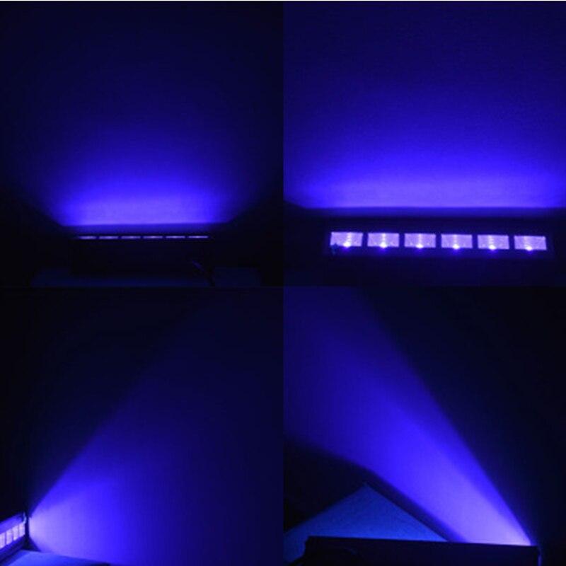 12 LED Disco UV Violet Noir Lumières DJ 36 w Par Lampe UV Pour La Fête De Noël Bar Lampe Laser Stade mur Rondelle Spot Lumière Rétro-Éclairage - 5
