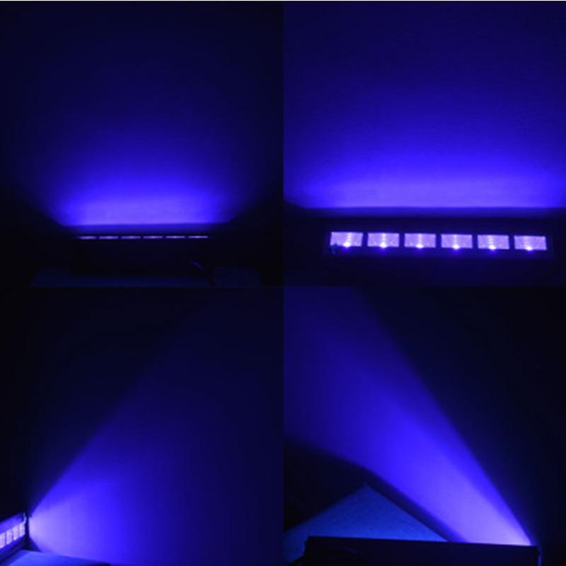 12 LED Disco UV Violet noir lumières DJ 36 W Par lampe UV pour fête noël Bar lampe Laser scène mur rondelle Spot lumière rétro-éclairage - 5