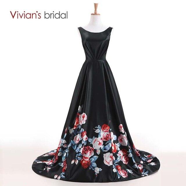 Vivian der Braut Scoop Neck Satin Eine Linie Abendkleid Lang ...