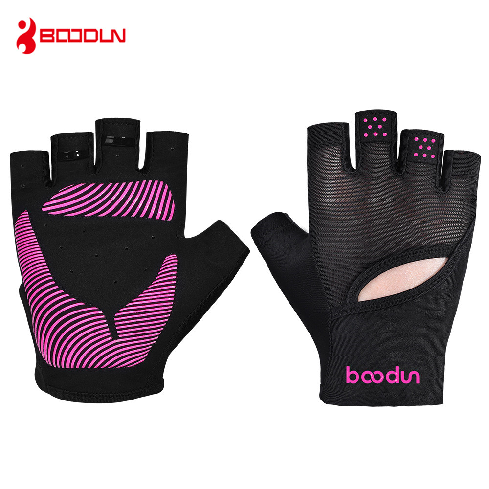 BOODUN Gym Gloves Women Breathable Shockproof Fitness Gloves Bodybuilding Dumbbell Musculation Weight Lifting Yoga Sport Gloves