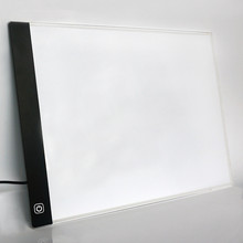 LED lighted Drawing Board Ultra A4 Drawing table Tablet light Pad Sketch Book Blank Canvas for Painting Acrylic Watercolor Paint