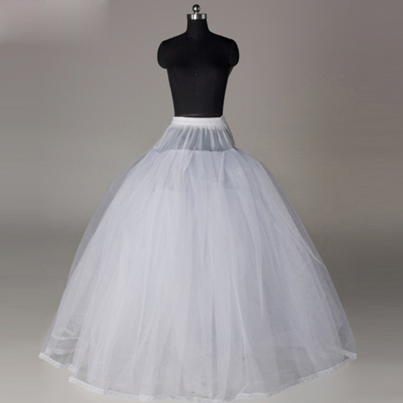 2016 new high quality ball gown puffy floor length tulle for Tulle petticoat for wedding dress