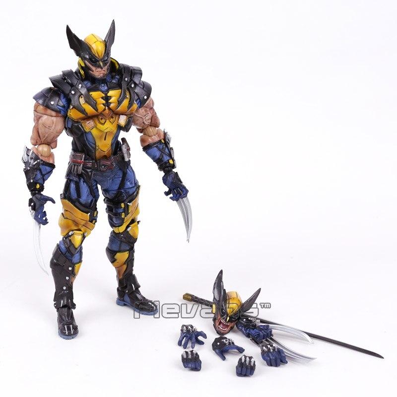 Play Arts Kai Marvel X-MEN Wolverine Logan PVC Action Figure 24