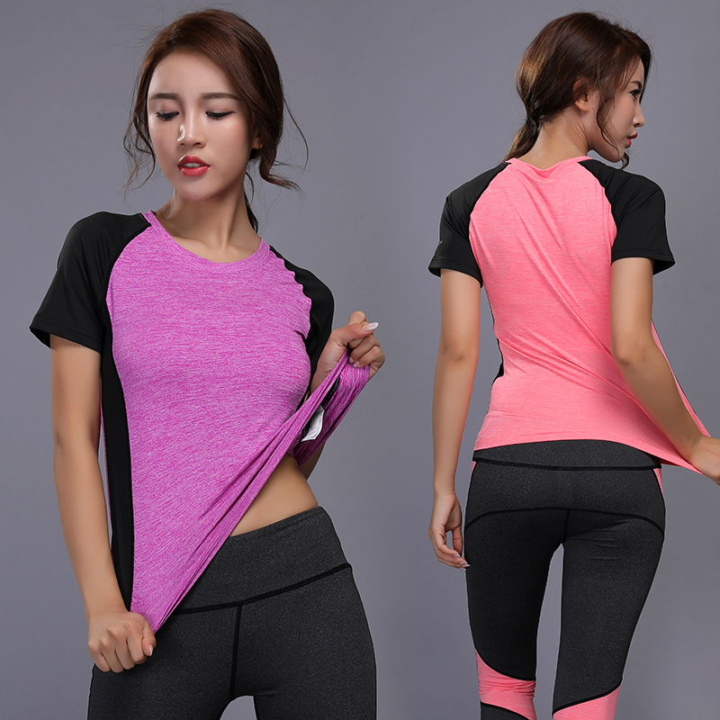 Quick drying Slim Yoga Top Ladies Sports T Shirt Gym Sweatshirt Yoga Fitness Shirt Execution T Shirt Ms Mountaineering in Yoga Shirts from Sports Entertainment